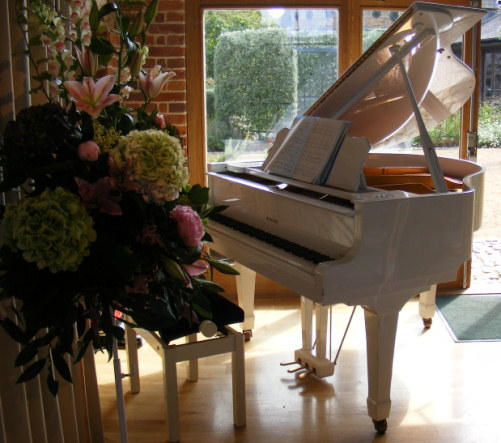 White Grand Piano - Pianist London